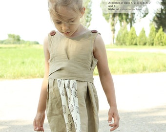 Siiri toddler DRESS pattern - easy children sewing patterns pdf - INSTANT DOWNLOAD