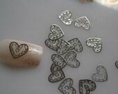 No.13 MS243-1 100pcs Nail art Silver Deco Metal Sticker Nail Art Deco