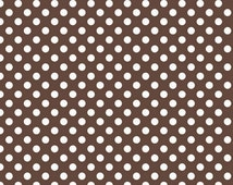 Brown Small Dot Fabric by Riley Blake Designs. Designer Modern Fabric.  Perfect for fall & Halloween. 100% cotton. C350-90 - By the 1/2 Yard