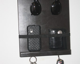 Sunglasses Holder, Eye Glass Holder, Wallet Holder, Cell Phone Holder & a Key Holder, Great For Home, Condo, Apartment, Loft Made in the USA