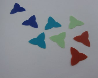 Plectrum plectra picks. 8 pieces. Material for jewelry making etc. VINTAGE