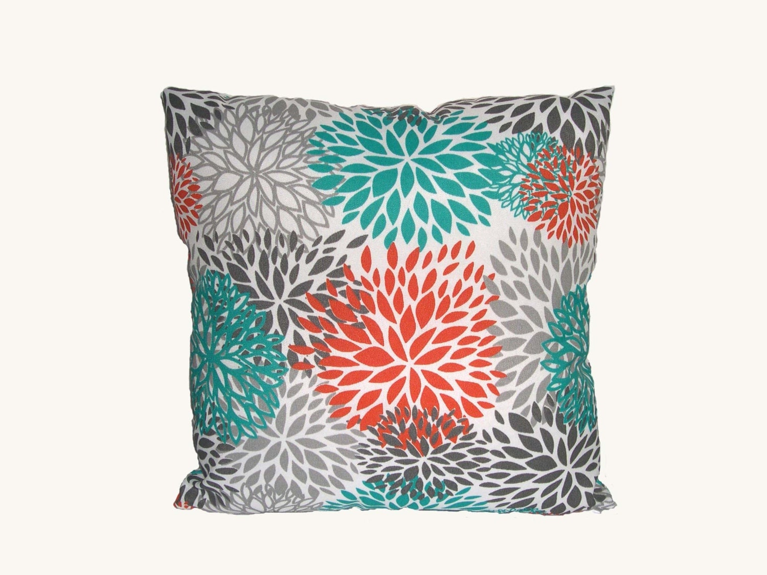 decorative pillows gray teal orange and white pillow cover. Black Bedroom Furniture Sets. Home Design Ideas