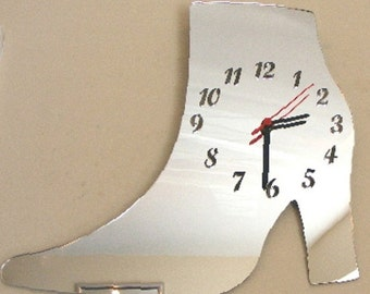 Ankle Boot Clock Mirror - 2 Sizes Available