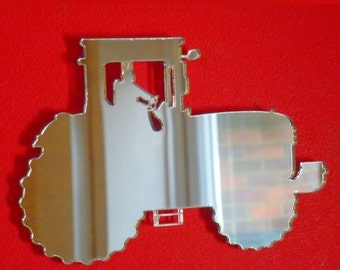 Tractor Shaped Mirrors (John Deere Style) - 5 Sizes Available