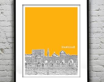 Mashhad Iran Poster Art Print City Skyline Tehran Province Iran