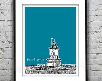 Barrington Skyline Poster Art Print Rhode Island RI