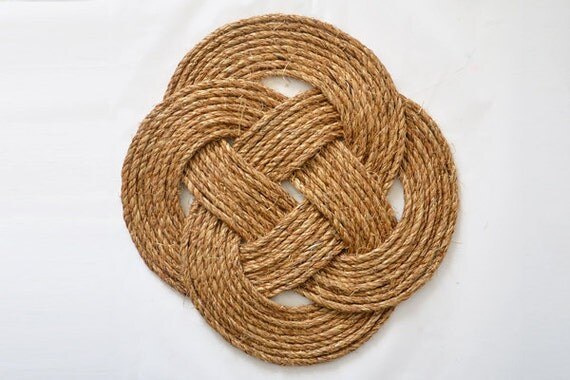 Items similar to celtic knot decorative place mat for Large nautical rope