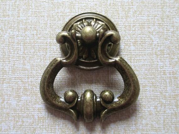 Brass Drop Dresser Drawer Pulls Knobs Handles Ring Antique