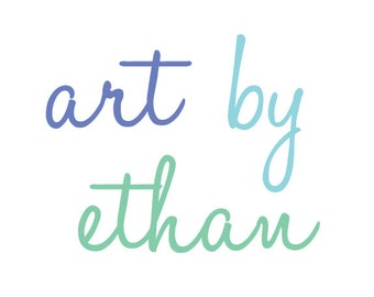 Personalized Art By Wall Decals - Blue Green Personalized Wall Decals