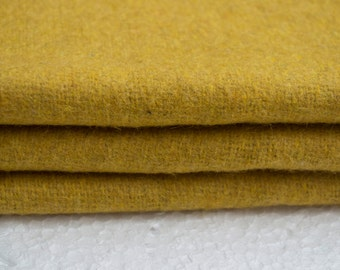 Mustard felt fabric - Wool felt by the yard- Wholesale felt by the yard-