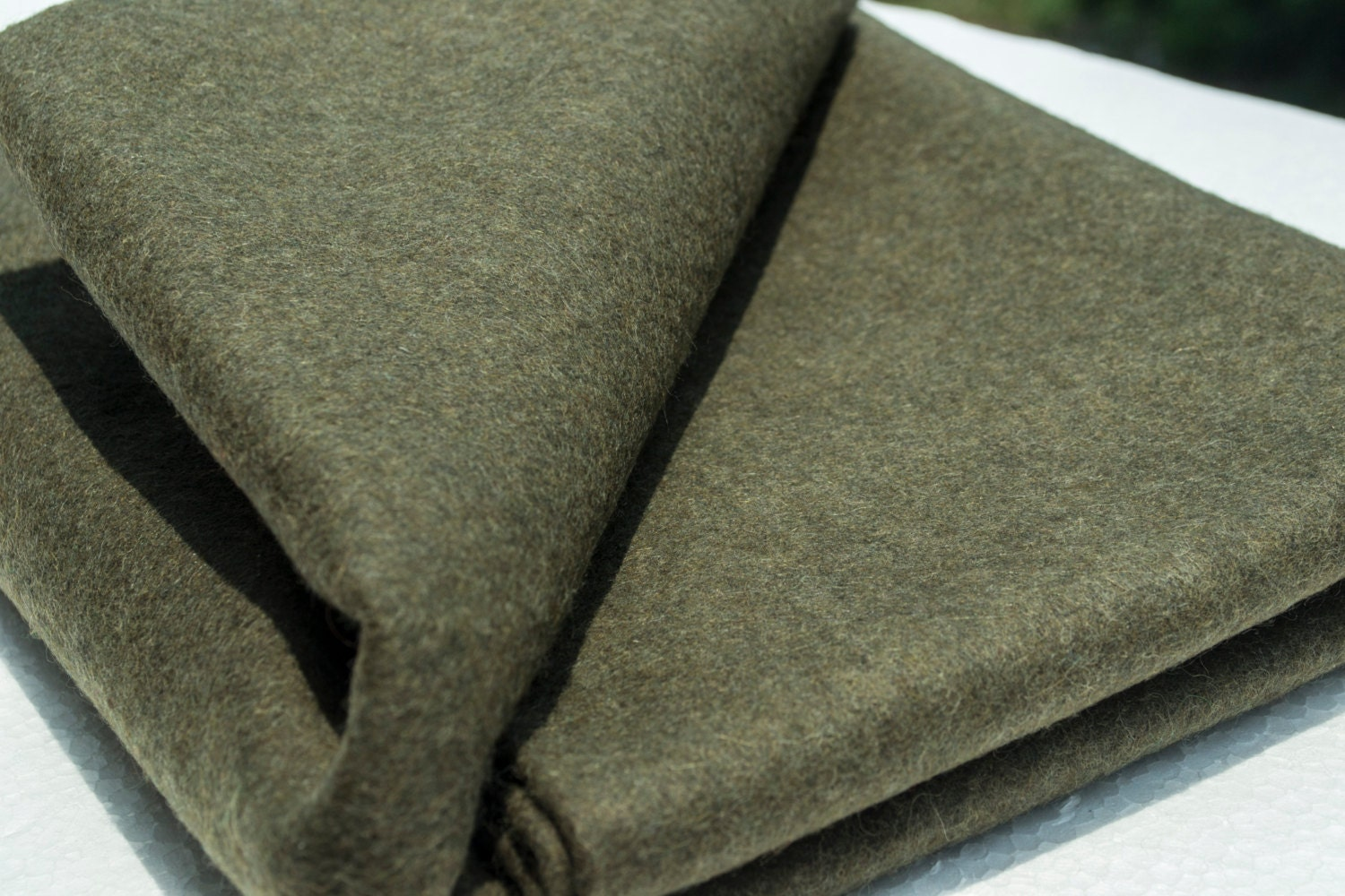 Olive Green Felt Fabric Wool Felt By The Yard By