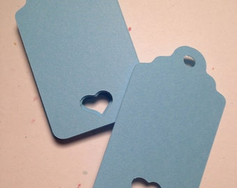 36  Heart Tags - Select a Color - Valentine's Day,  Wedding Favors, Favor Tag, Merchandise Tag, Gift Tags, Place cards, scalloped tag