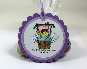 Baby shower tag, baby shower favor, baby shower favor tag, set of 12