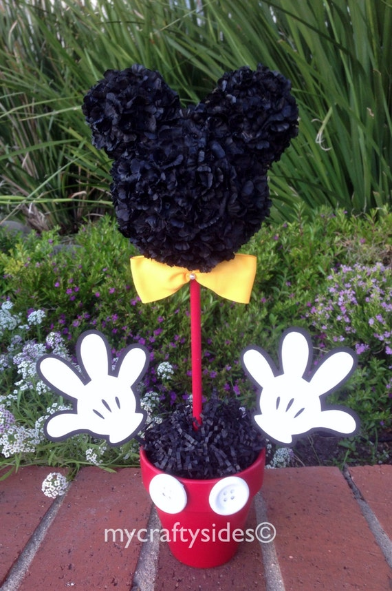 Mickey mouse centerpiece inch party