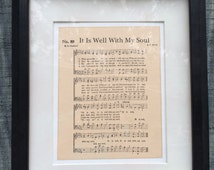 It Is Well With My Soul Hymn Sheet Music Art - Larger Font Title