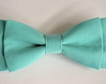 free swatchesBoys Bow Tie ,Bow tie for kids,mint color bow tie for men, cotton bow tie,bow tie for boys, bow tie for children, mint