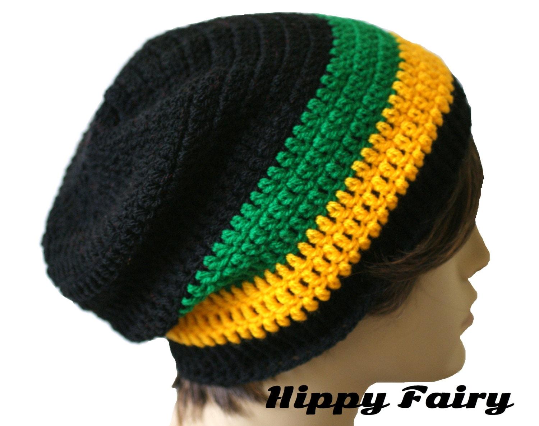 Rasta beanie hat crochet pattern dancox for mens crochet rasta hat beanie rasta hat jamaica flag by bankloansurffo Image collections