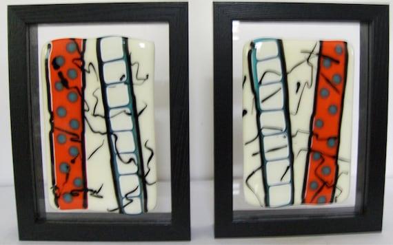 The Cutting Room Floor 2 x 2  -  Glass Wall Art (set of 2)