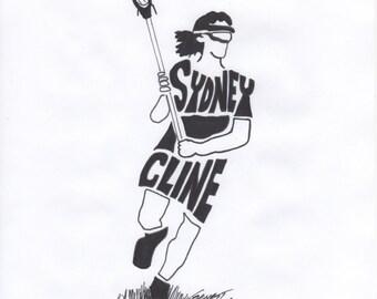 Personalized Sport Figure -  Girls Lacrosse