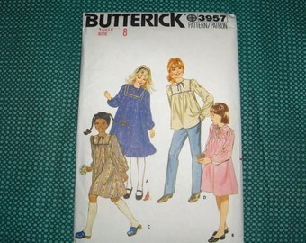 Butterick 3957 Girls Dress and Top Pattern