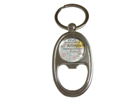 dallas cowboys stadium map bottle opener key chain. Black Bedroom Furniture Sets. Home Design Ideas