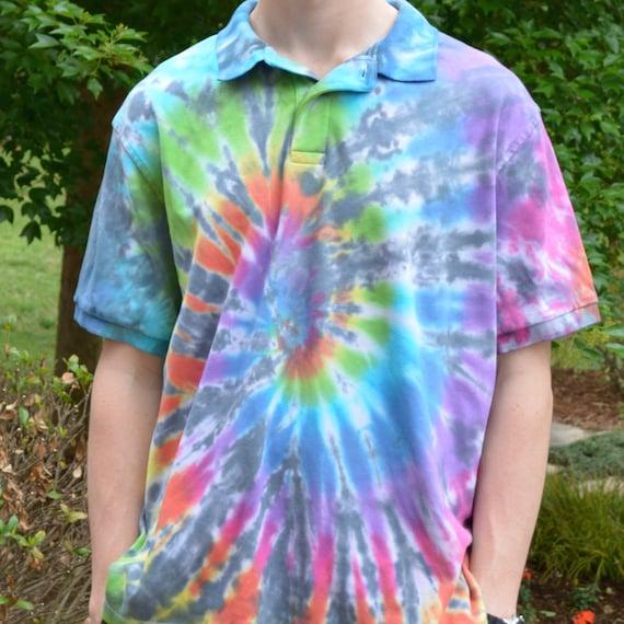 tie dye polo shirt
