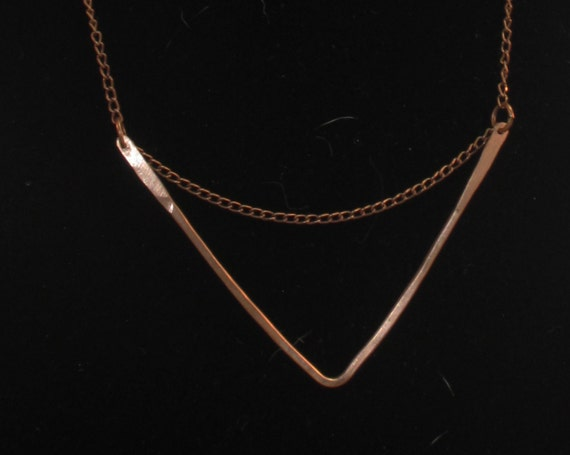 Chevron necklace - your choice of gold, silver, copper
