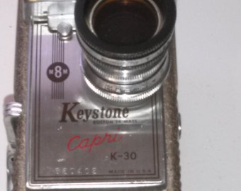 Camera - Vintage - Keystone Boston 24 Mass Capri K-30 Made in USA 620422  8MM