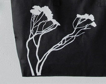 """Black Tote Bag with Kult Designs """"Reaching"""" Created Graphic, gift gym bag mom daughter sister"""
