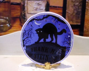 Halloween Miniature Plate for Dollhouse 1:12 scale