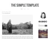 Simple Blogger premade blog template design // Simple // Instant Digital Download // Black White Simple Minimalist