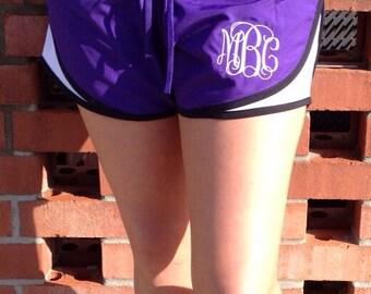 Monogrammed Running Shorts | Monogrammed Shorts | Monogram Shorts | Running Shorts | Running Gear | Cheer Shorts | Workout Shorts