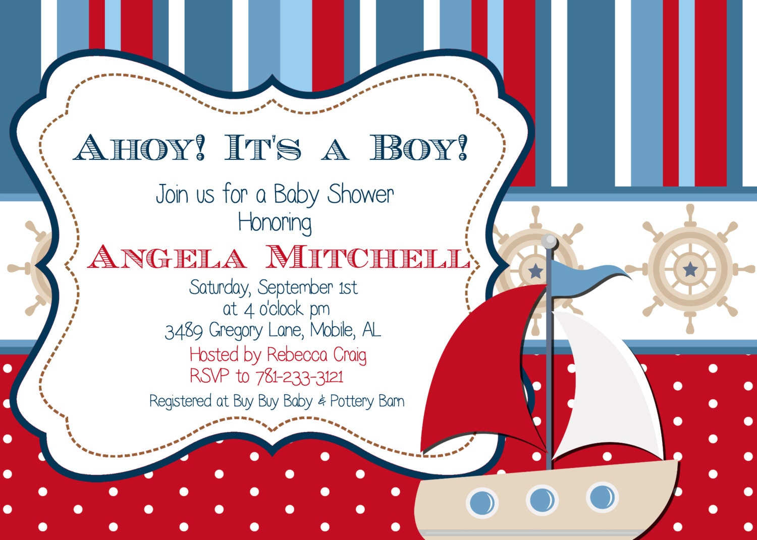 NAUTICAL BABY SHOWER INVITATIONS WALMART | baby shower nautical