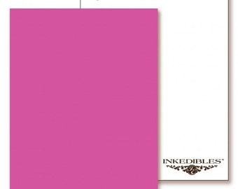 Inkedibles Premium Frosting ChromaSheets: 5 pack Letter Size (Pink)