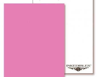 Inkedibles Premium Frosting ChromaSheets: 5 pack Letter Size (Pastel Pink)