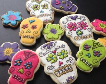 Neon Flowers & Sugar Skulls