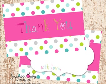 Polka Dots - Thank You Card