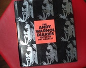 "Warner Books ""The Andy Warhol Diaries"" Actual 1970's Voice of a Modern Art Genius"