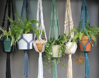 Macramé Plant Hangers in assorted neutral colours