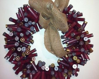 Shotgun Shell Wreath- Dark Red