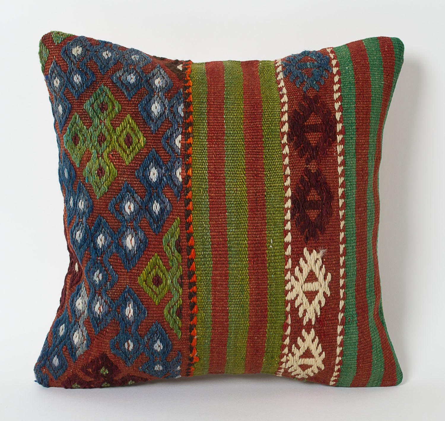 Kilim Pillows Covers Navy Blue And Green Kilim Pillows