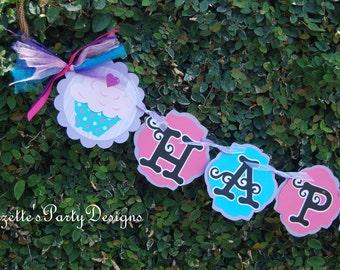 Cupcake, birthday, banner,