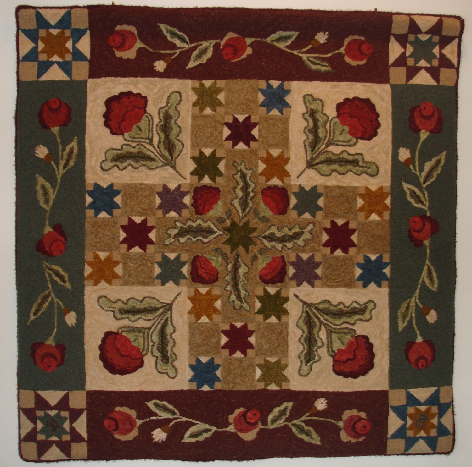 Colonial Quilt Rug Hooking Pattern