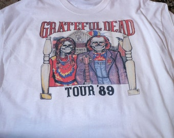 Grateful Dead T Shirt ...  Tour 1989 ... Jerry Garcia