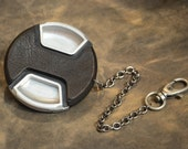 SILVER - CameraPunk™ Lens Cap DELUXE with chain