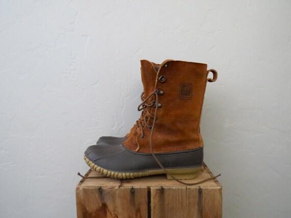 Lacrosse Duck Boots Suede Ankle Duck Shoes Winter L L