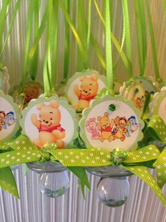 winnie the pooh baby shower pacifier necklace baby shower favor