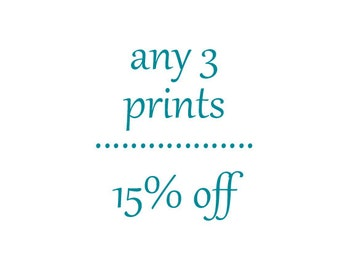 Any Three Prints-Discount-Savings-Fine Art Photography