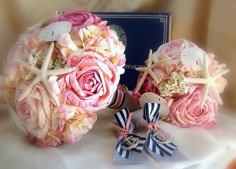 Beach Bouquet Pink Nautical Wedding