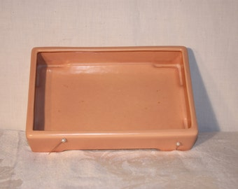 Franciscan ware rectangle planter, soft peach coral color in very good condition